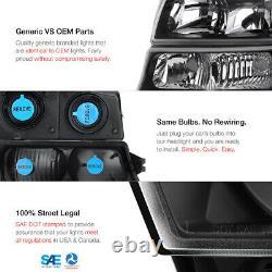 03-06 Chevy Silverado 2500Hd Rear Brake Lamps Black Headlamps Oe Style Assembly