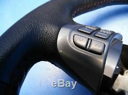 08-10 Subaru Impreza Wrx OEM steering wheel with switches Black/red stitching
