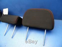 08-14 Impreza Wrx OEM rear back seat headrests head rests x3 Black/red stitching