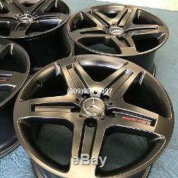 19 Gwagon Wheels Rims Oem Black Red Amg G63 G550 G500 G55 Oem Stock Wagon