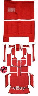 1966 Dodge Charger Replacement Molded Carpet Kit Console Strips Black Red 4speed