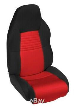 1994-1996 Corvette C4 BLACK & RED Neoprene Standard Seat Cover