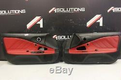 2000-2003 Honda S2000 OEM door panels covers STOCK factory Black/Red OEM
