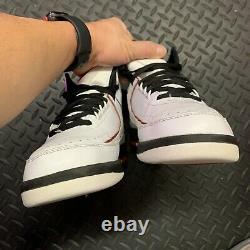 2010 Nike Air Jordan II 2 Retro QF Chicago White/Black/Red 395709-101 Sz 8