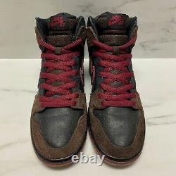 2011 Nike SB Dunk High Brooklyn Projects Slayer Size 9 Black / Red 313171 013