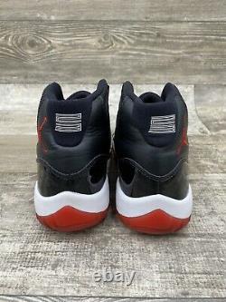 2012 Nike Air Jordan Retro 11 XI Bred Black Red White Playoff 378037-010 Size 8
