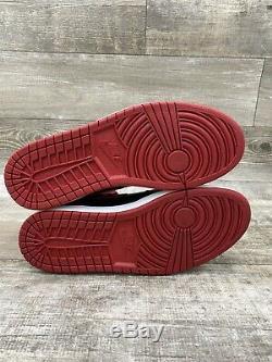 2013 Nike Air Jordan Retro 1 One High OG BRED Black Red White 555088-023 SZ 12.5