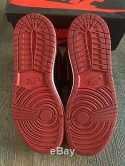 2013 Nike Air Jordan Retro 1 One High OG BRED Black Red White Size 6.5Y 8 VNDS