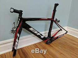 2014 BH G6 Carbon Bicycle Aero Frameset XS/52cm Blk/Red New Old Stock
