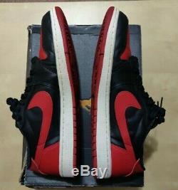 2015 Nike Air Jordan 1 Retro Low OG 705329-001 BRED Black Red Chicago Sz 11.5