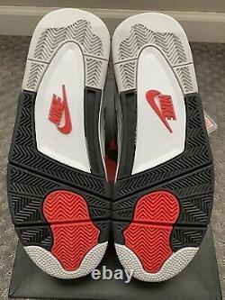 2016 Nike Air Jordan 4 White Cement Grey Black Red OG RETRO SZ 11.5 BRAND NEW DS