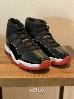 2019 Nike Air Jordan 11 Bred Black & Red Size 13 Dead Stock