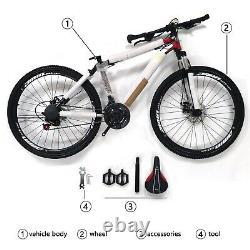 21 Speed 26 MTB Mountain Bike Wheels Bicycle Bicycles Disc Brakes Red US Stock