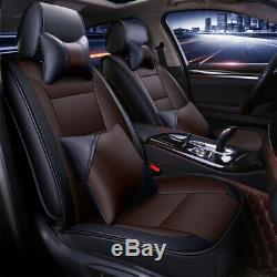 5-Seats Cushion Pad Durable Full Car Seat Covers Protector leather Waterproof