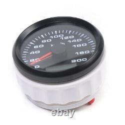 6 Gauge set Speedo 8000RPM Tacho Fuel Volts Oil pressure Temp Black USA STOCK