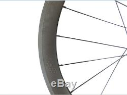 700C Standard Carbon Wheels 38mm Depth Rims Clincher Tubular Road Bike Wheelset