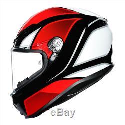 AGV K6 Hyphen XL Black/Red/White UK Stock 2020 NEW