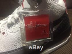 AIR JORDAN 3 TINKER HATFIELD RED/BLACK/WHITE/GREY DEAD STOCK Sz12 US