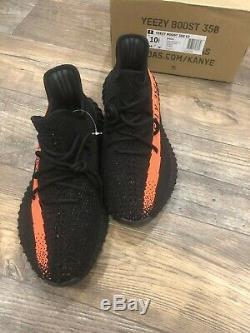 Adidas 350 V2 Yeezy Boost 350 V2 black red, black Men Size 10.5 NEW DS DEAD STOCK