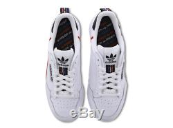Adidas Continental 80 White-Black-Red Men's Trainers All Sizes Limited Stock