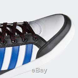 Adidas Hardcourt Mens Trainers White Black Red Blue Hi Top Shoes Limited Stock