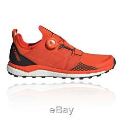 Adidas Mens Terrex Agravic Boa Trail Running Shoes Trainers Black Red Sports