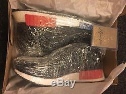 Adidas NMD R1 PK OG Core Black Lush Red EUR 45 1/3 UK 10,5 US 11 DEADSTOCK