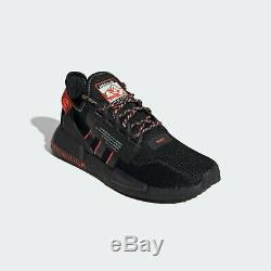 Adidas NMD R1 V2 Mens Black Red White Shoe Trainer Sneaker All Sizes