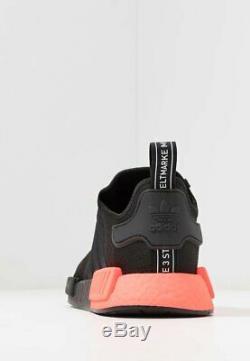 Adidas Originals NMD R1 Mens Black Red Shoe Trainer Sneaker UK 6-12