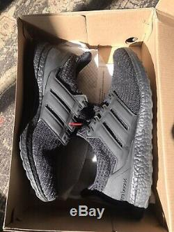Adidas Ultra Boost 4.0 Triple Black Red Mens US 11.5 Dead stock
