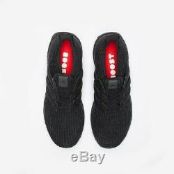 Adidas Ultraboost Mens Running Black Red Boost Shoe Trainer Sneaker All Sizes