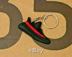 Adidas Yeezy Boost 350 V2 UK 7.5 Core Black Red Stripe BRAND NEW IN BOX