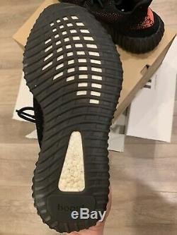 Adidas yeezy boost 350 v2 black red SPLY Pre-owned from Stock X Size 11.5
