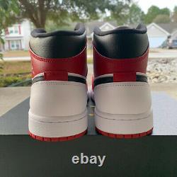 Air Jordan 1 Chicago Mid White Heel Toe Black Red Retro 554724-173
