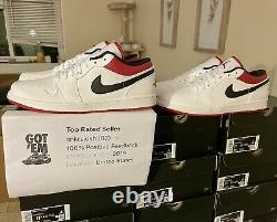 Air Jordan 1 Low White Gym Red Black All Sizes 553558-118Trusted Seller