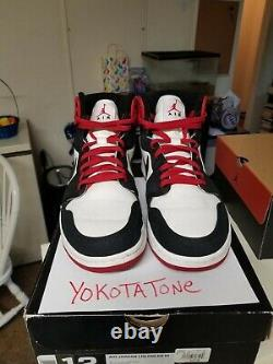 Air Jordan 1 Retro KO HI 2012 Wht/Blk/Red sz 12 bred Concord playoffs