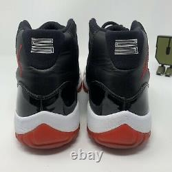 Air Jordan 11 Retro Bred 2012 Mens Size 12 378037-010 Black Red Basketball