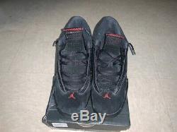 Air Jordan 14 Retro Last Shot Black/Red Mens Size 7Y
