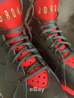 Air Jordan 7 Retro Dead Stock Black/Red/Green UK 8.5 Collectors