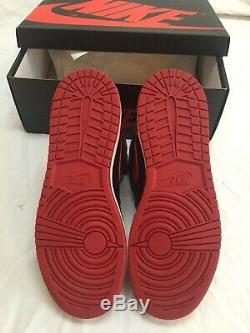 Air Jordan Retro 1 OG Banned Bred Blk Varsity Red Wht Y6.5 DEAD STOCK ORG. BOX