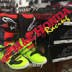 Alpinestars Tech 7 Fluo Yellow, Fluo Red, Black, Gray MX Boots -In Stock Today