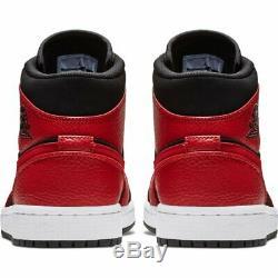 Authentic AIR JORDAN 1 MID REVERSE BRED (Men UK 10.5 EUR 45.5) Black Red