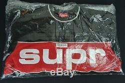 Authentic Supreme Piping Crew XL FW19 Black Red Genuine DEAD STOCK Hypebeast