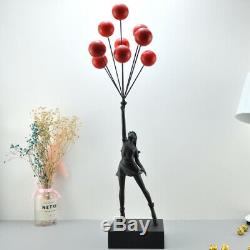 Banksy Flying Balloons Girl Black Red Limited Statue Fashion Collectible Stock