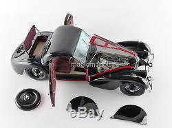 Bauer 1937 Bugatti Type 57 SC Atalante Red/Black LE of 1500 1/12 Scale In Stock