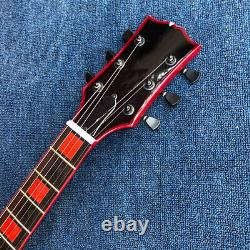Beautiful LP electric guitar Honey Burst black red black body without logo