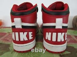 Big Nike Spike Lee Mars High Bulls Retro White Black Red 336608-101 Size 10.5