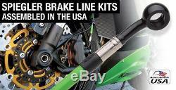 Bmw K 100 1988-1992 Front And Rear Spiegler Brake Line Kit 4 Lines Orig Abs I