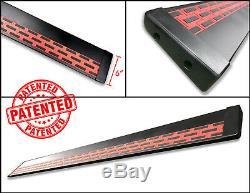 Broadfeet Aluminum Running Board R88 BLK/RED 2015-2017 Ford F150 Standard Cab