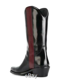 CALVIN KLEIN 205W39NYC cowboy boots 41 UK 7 Western Ed Abrasivo Black/Red